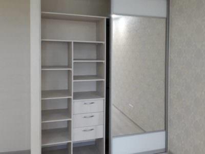 Шкаф-Купе Встроенный Зеркало+ Белый ЛДСП