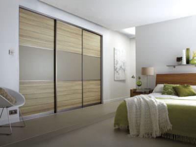 Шкаф-Купе в спальную комнату с фасадом из пластика ARPA