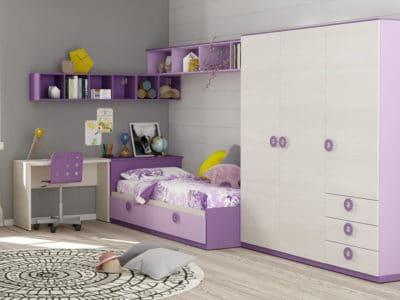 Шкаф-Распашной + Кровать с рабочим местом