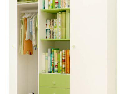 Шкаф-Распашной для Детской с Полками Для Книг